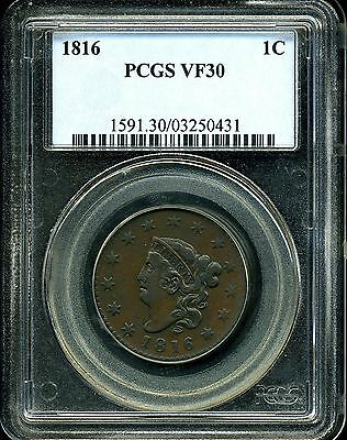 1816 1C Coronet Head Large Cent VF30 PCGS 03250431