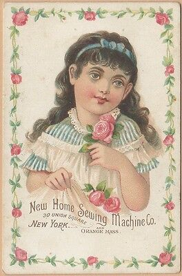 Victorian Trade Card-New Home Sewing Machine-Orange, MA-A Winter-Zelienople, PA