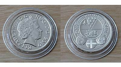 2010 £1 Brilliant Uncirculated Coin - City of Belfast One Pound Coin