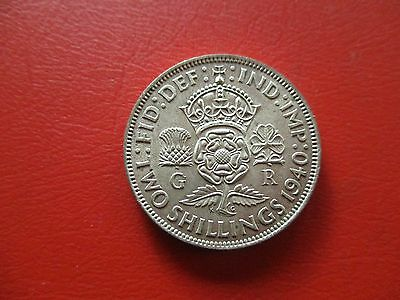 1940 silver florin two shillings George VI (ref 674)