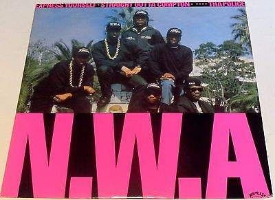 """N.W.A. Express Yourself / Straight Outta Compton / **** tha Police 12"""" 1989"""