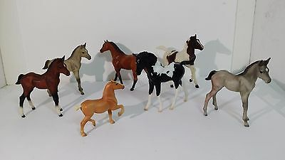 Lot Of 7 Vintage Breyer Assorted Small Horses