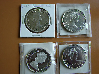 Group of 4 nice Canada $1 Uncirculated coins, 1964, 1972, 1976 & 1983.