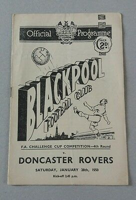 1949-50 Blackpool v Doncaster FA Cup