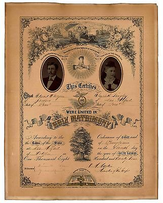 Marriage Certificate:  1874 Wagner - Singley  PA
