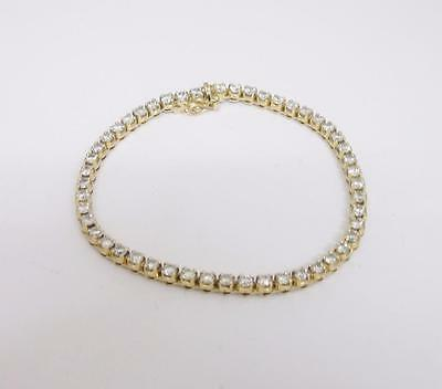 18ct Yellow Gold Diamond 4 Carat Ladies Tennis Bracelet 7.5 inches Bracelet