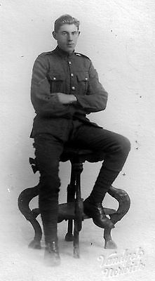 WW1 WWI BEF British soldier unknown regiment - Catchpole of Norwich