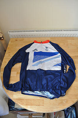 London 2012 Olympic Team GB Cycling Long Sleeve Shirt (UK Small-Non official)