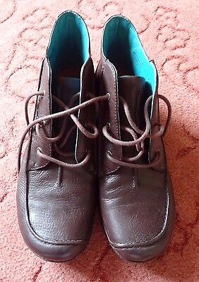 Clarks Unstructured Ankle Boots Women's Size 7.5 D Brown Leather Uppers