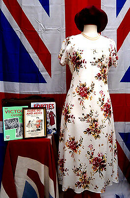 1940`s WW11 Wartime vintage style land girl Tea / Day Dress Size 14
