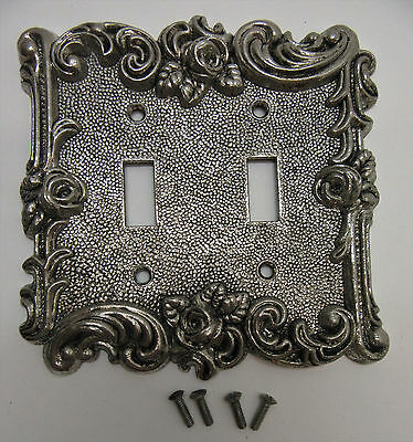 Vintage American Tack & Hardware Gothic Rose Double Switch Plate Cover 1967