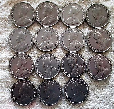 15 Old Canada Canadian Nickels 5 Cent 1922-36
