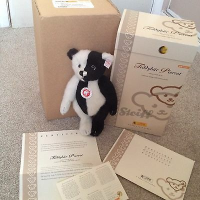 *NEW* STEIFF Pierrot Limited Edition Black and White Bear