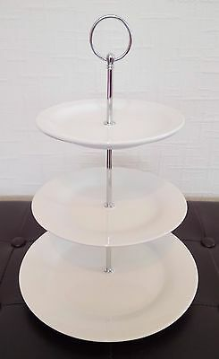 Twenty 20 brand new white ceramic three tier cake stands afternoon tea/wedding