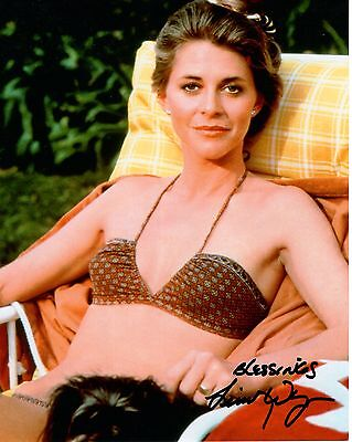 LINDSAY WAGNER HAND SIGNED 8x10 COLOR PHOTO+COA      GORGEOUS+SEXY BIONIC WOMAN