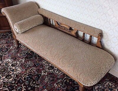 Chaise Longue ~ Early 1900's ~ Fabric Colour Honey by Parker Knoll mid 1980's