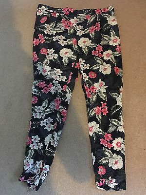 NEW LOOK Maternity Floral Trousers Size 12