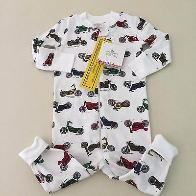 HANNA ANDERSSON  Boy's MOTORCYCLE Pajama, Size 70 (9-12 months) New With Tags!!