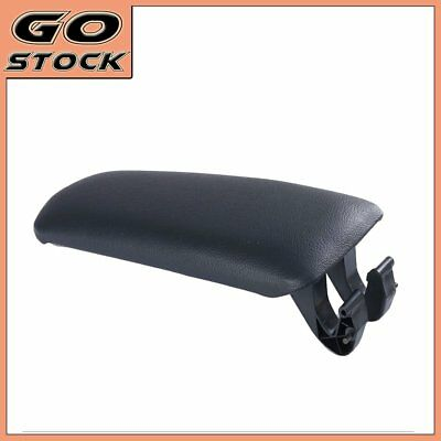 Center Console Front Armrest Lid Cover Black PU Leather For 2004-2007 Audi A4 B7
