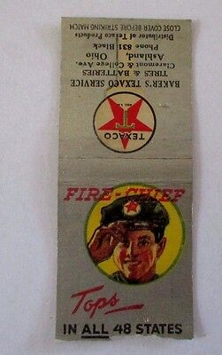 """Vintage Texaco Fire-Chief- Gas & Oil Station Matchbook Cover-4"""""""