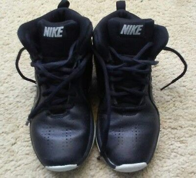 Kids Nike High top shoes black boy's ( size 13 )