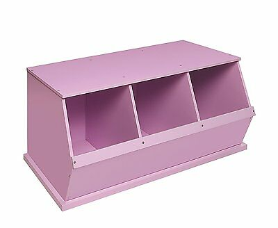 Badger Basket Three Bin Storage Cubby, Lilac