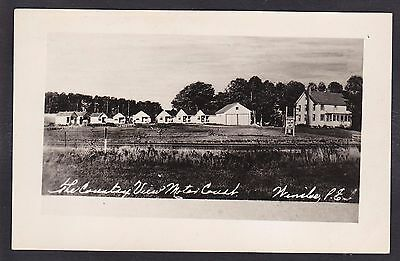 C 1915-1930 Real Photo RPPC Postcard The Country View Motor Court WINSLOE PEI