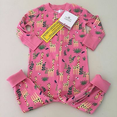 HANNA ANDERSSON  Beautiful Girl's Giraffe Pajama Size 70 ( 9-12 months ) New!!