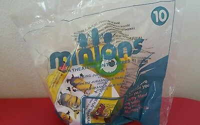 2015 McDonald's Minions #10 Talking Jurassic Minion Sealed Toy NEW despicable