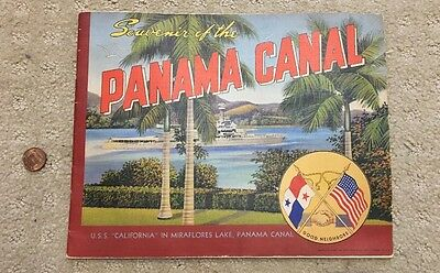 Souvenir Of The Panama Canal 1941 Vintage WWII Booklet