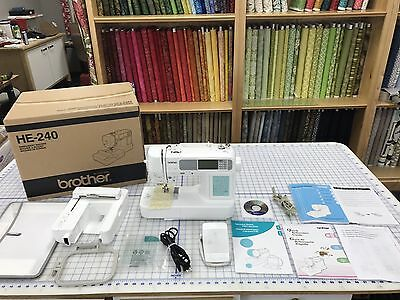 Brother HE240 HE-240 Embroidery & Sewing Machine Combo With USB