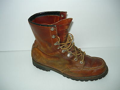 Vintage Red Wing Brown Leather Men's  Boots Size 8.5D