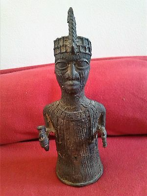 Antique African Benin Style Bronze Tribal Elder