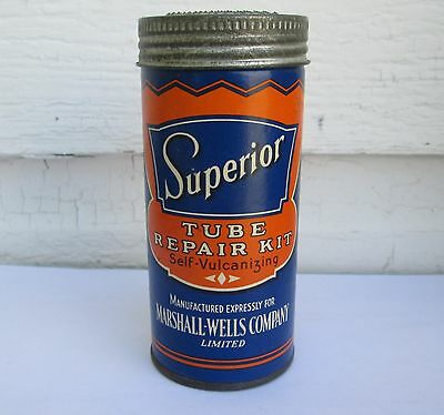 Vintage Superior Tire Tube Repair Kit Marshall Wells Co Made In Canada