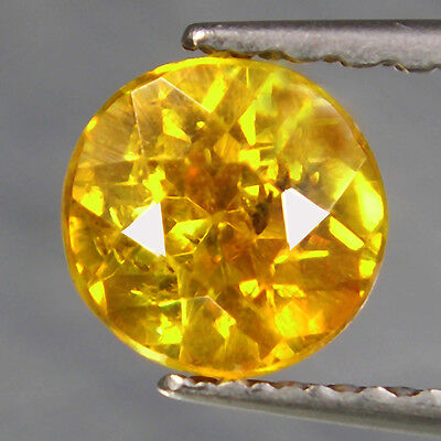 0.64 cts Bicolor Yellow Sphalerite Round Loose Diamond F17