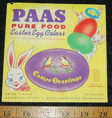 [ 1960s - 1970s PAAS Easter Egg Colors Package - Vintage Holiday Fun ]