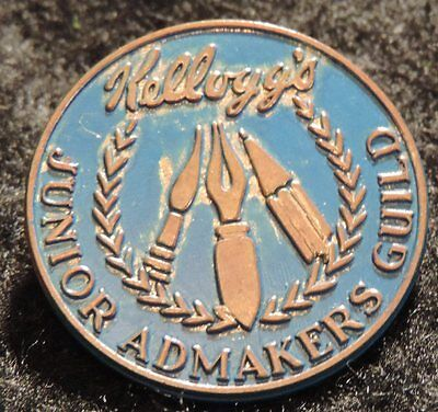 [ 1950s - 1960s KELLOGG'S Junior Admakers Guild Pin - Vintage Cereal Nostalgia ]