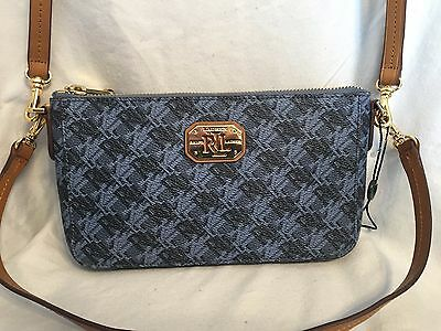 69f3c38944d5 Ralph Lauren Dobson Pam-Mini Shoulder Handbag Purse Indigo Blue print NWOT