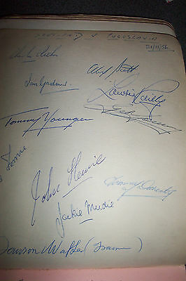 1956 SCOTLAND INTERNATIONAL v YUGOSLAVIA FOOTBALL SIGNED AUTOGRAPHS + MOTHERWELL