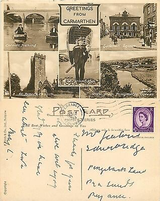 s07246 Carmarthen, Carmarthenshire, Wales postcard posted 1965 stamp