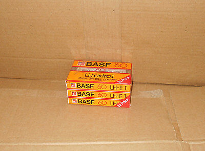 3 NEW - BASF 60 blank cassette tape *SEALED* (1984) Collectable