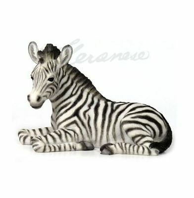 Baby Zebra Kneeling Statue Sculpture Figure - GIFT BOXED *HOME DECOR*