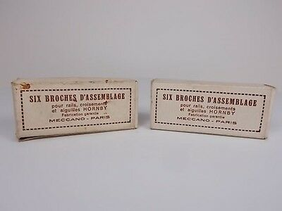 12 French Hornby O Gauge Track Connecting Plates (Boxed)