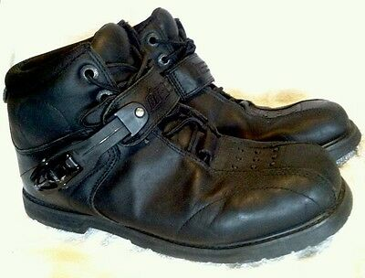 ICON Super Duty 4 Leather Motorcycle Boots (Black) US 10 / EUC / FREE SHIPPING