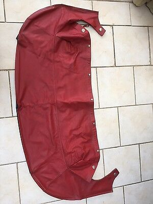 Mazda MX5 Red Tonneau Cover Jasper Conran
