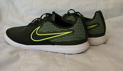Mens 7.5 NIKE MagistaX Finale IC indoors/  Black Volt White Turf Soccer/ perfect