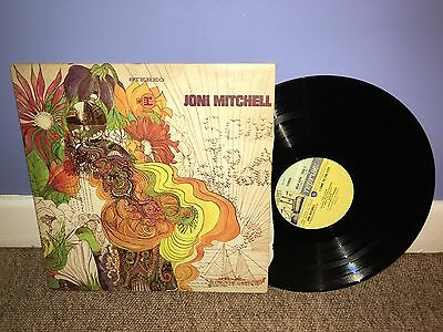 Joni Mitchell - Selftitled Debut LP Steamboat Reprise 1968 Stereo UK 1st P VG/EX