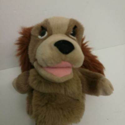 Lady from Lady and the Tramp Plush Hand Puppet Walt Disney