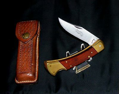 Imperial Lockback knife 4815 Double Eagle 1970's SFO W/4018F Stalker Sheath Rare