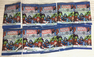 Woolworths Marvel Heroes Super Discs x 12 Brand New Unopened